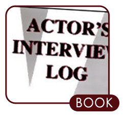 acting casting talent agent auditions disney casting Actors Audition Log Book